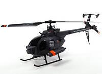 Вертолет на радиоуправлении бесфлайбарный Fei Lun MD-500 4-к копийный черный (вертолеты на пульте управления)