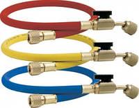 Комплект шлангов заправочных высокого давления с вентилями для фреона R410a (кондиционера) CPS HJ5E 3х150см 5/16