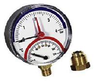 Термоманометр радиальный WATTS TIM80 0-120° 1/2. 4 бар
