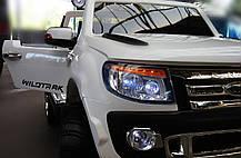 Детский двухместный электромобиль Ford M 2764 EBR-1 белый, колеса EVA, амортизаторы, радио, пульт Bluetooth, фото 3