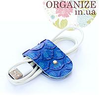 Зажим для кабелей и наушников Gato Negro (голубой)