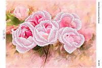 """Схема для частичной вышивки бисером """"Розовые розы """""""
