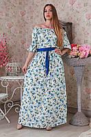 Оригинальное платье в пол с открытыми плечами