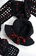 Модная черная шапочка и шарфик