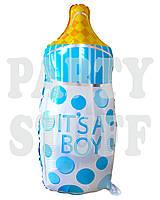 Фольгированный шар фигурный Бутылочка голубая, 75 см