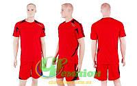 Форма футбольная без номера CO-3021-R (р-р XXL, красный, шорты красные)