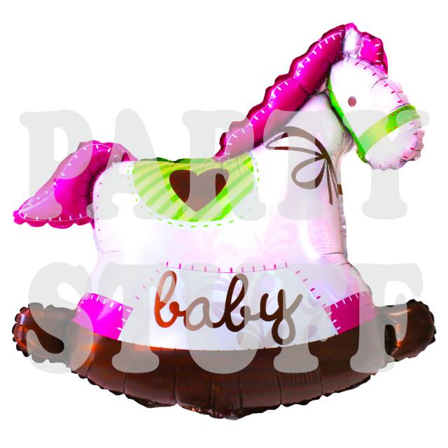 шар-для-новорожденной-лошадка-розовая