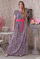 Необычное женское платье в пол модного фасона