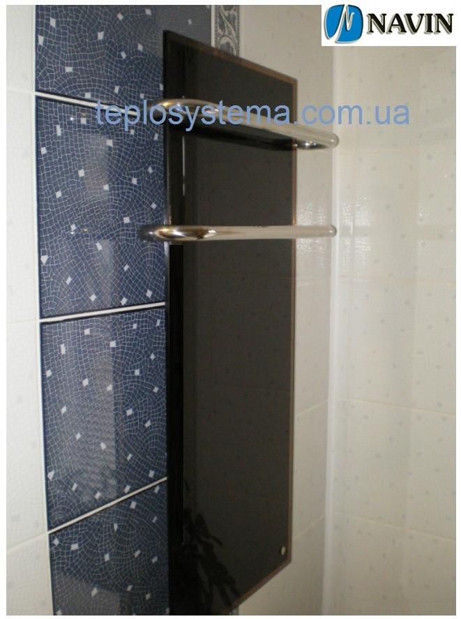 Электрический полотенцесушитель Кристалл 500 х 1350 Navin (стеклянная панель)