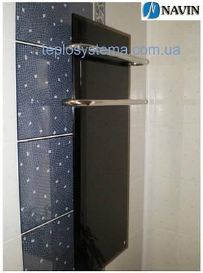 Электрический полотенцесушитель Кристалл 500 х 1350 Navin (стеклянная панель), фото 2