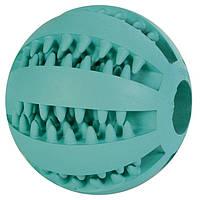 Тrixie Denta Fun Mintfresh Baseball Natural Rubber мяч бейсбольный с мятным вкусом, 6см