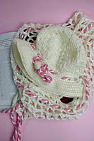 Белая шапочка и шарфик