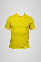 Футболка поло мужская желтая