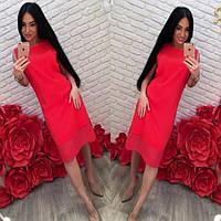 Асимметричное шифоновое платье, фото 1