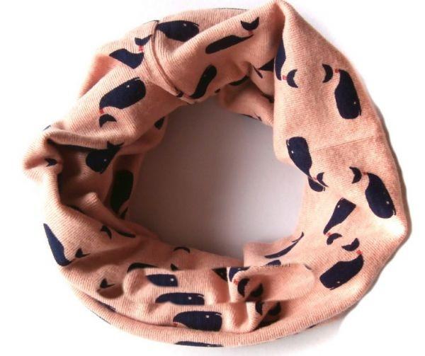 Хомут шарф детский трикотажный