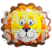 Фольгированный шар Лев круглый, 72 см