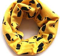 Трикотажный шарф труба