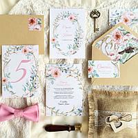 """Набор свадебных приглашений """"Нежно-розовый бохо"""""""
