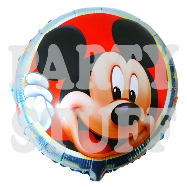 круглый шар из фольги Микки Маус
