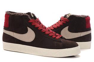 Кроссовки мужские зимние Nike Blazer / WNTR-002 (Реплика)