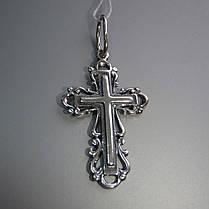 Оригинальный серебряный крестик, 2,1 грамма, фото 2