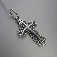 Оригинальный серебряный крестик, 2,1 грамма