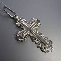 Оригинальный серебряный крестик, 2,1 грамма, фото 3