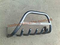Защита переднего бампера кенгурятник крашенный низкий с надписью  D60 на  Mercedes Vito 1996-2003