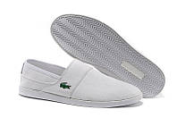 Слипоны Lacoste Slip On White