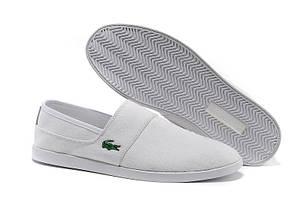 Слипоны Lacoste Slip On White