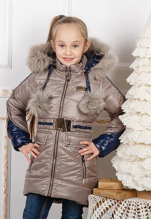 Зимнее модное пальто для девочек Бубон