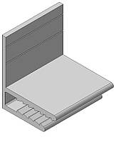 Профиль алюминиевый F-образный 3мм для композита