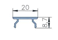 KMD.F50.KD01.Профиль крышки декоративной 8,7мм для углов  (6,8 м) RAL