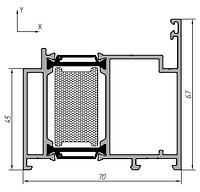 KMD.70.RM04  Профиль рамы 67 мм (дверной для нар. отк.) 6,5  м  RAL