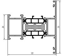 KMD.70.IM02 Профиль импоста 76 мм (6,5 м) RAL