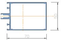 KMD.F50.RG70.Профиль ригеля 70*50 (6,0 м) RAL