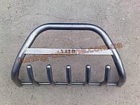Защита переднего бампера кенгурятник крашенный низкий с надписью  D60 на  Mercedes Vito 2004+