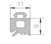KMD.F50.UP9.Уплотнитель стоечный (REG-04) (150 метров)