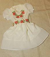 Вишита сукня для дівчинки (троянда)