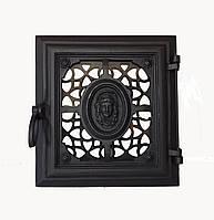 Чугунная печная дверца - VVK 33x36см-26x29см