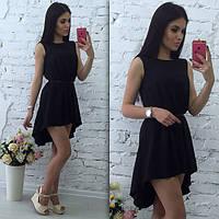 Шифоновое платье асимметричное, фото 1