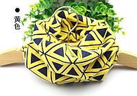 Желтый шарф снуд