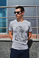 Мужская футболка серая ТУР Apache