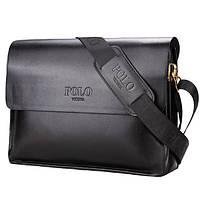 Мужская сумка. Бизнес сумка. Повседневная офисная стильная. Кожаная сумка портфель POLO A4, фото 1