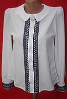 Нарядная белая блуза для девочки