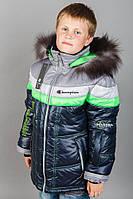 Детская зимняя куртка для мальчика Монстр