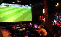 """Футбол на большом 150"""" экране - проекционный комплект для бара, кафе, ресторана"""