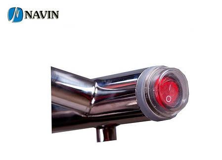 Полотенцесушитель электрический NAVIN Силуэт 160 х 1000 (с терморегулятором), фото 2