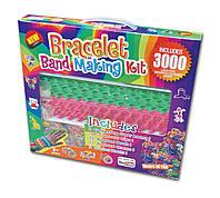 Резиночки для плетения браслетов Rainbow loom набор (3000шт, станок двойной, подвески, крючки, замки, бусины)