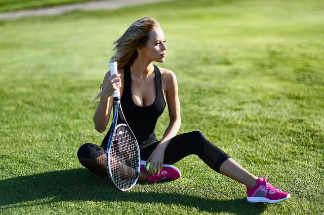 Sexy Black Net capri костюм для фитнеса